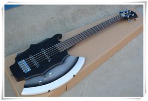 Ax-Form 5 Strings Black Body E-Bass mit Unterschrift, Palisander Griffbrett, 2 Pickups, Chrom Hardware, kann besonders angefertigt werden