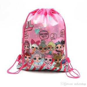 Kız Karikatür depolama torbaları doğum günü partisi Favor Noel Hediyesi Çanta Yüzme plaj çantası paketi cep sırt çantası çocuk oyuncakları İpli bebek