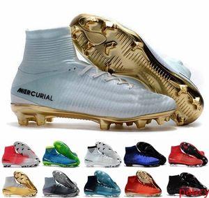 Mens Kids Soccer Cleats Mercurial CR7 Superfly V FG Boys Football Boots Magista Obra 2 Women Soccer Shoes Cristiano Ronaldo scarpe da calcio