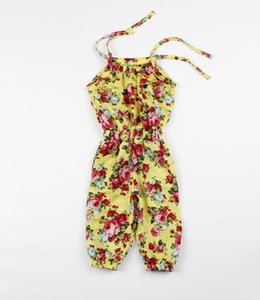 2017 newborn toddler infant baby girl Summer cotton jumpsuit bodysuit 2-8y Playsuit Floral Soft Clothing One-piece Cute clothes