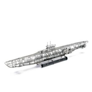 Ww2 1: 350 deutsch u u-boot typ viic spaß 3d metall diy miniatur modell kits puzzle spielzeug kinder spleißen hobby gebäude y190530