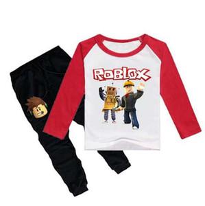 Nouveau Printemps Automne Enfants Pyjamas pour Filles Adolescents Vêtements Ensemble Chemise De Nuit Roblox Jeu Pyjamas Enfants T-shirt + Pantalon Vêtements 2-12Y