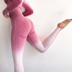 Normov Kadınlar Dikişsiz Yüksek Bel Pantolon Kadın Spor Yoga Eğitim Tayt Gym Fitness Tayt C19042201