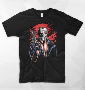 Jason Terminator T-Shirt Maske Horror Top Freitag der 13. Halloween Film Geschenk