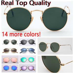 Женская мода солнцезащитные очки круглый металл модель реального очковых линз солнцезащитных очков оптовой бесплатно оригинальный кожаный чехол, ткань, коробка, аксессуары.