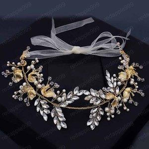 Bride Wedding Headpeice Branch Leaf Shape Hairband Gold Color Vintage Alloy Headband Party Dress Accessories Women Tiara