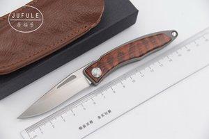 JUFULE 2018 Mnandi M390 Blade snake wood Titanium handle folding copper washer hunt camp Pocket Survival EDC Tool kitchen knife