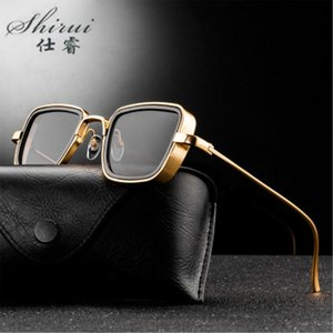 Classic Gothic Steampunk Sunglasses Alloy Men Women Brand Designer Vintage Square Metal Frame Sun Glasses High Quality Uv400 uCPrL