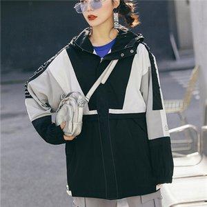 New Autumn Fall Winter Mens Womens Casual Outwear Jakcets Sport Jacket High Patchwork Tops Windbreakers Casual Windbreaker S-2XL B100109Q