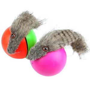 1PC Pet Dog Cat Toys Electric Beaver Weasel Toy Rolling Jump Balls Toys For Dog Puppy Dogs Funny Moving Toys pet Supplies Random
