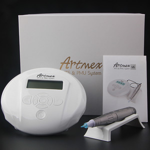 Permanent Makeup Eyebrow Tattoo machine With Digital Control Panel Micropigmentation Device Eye Brow Lip Rotary Pen Artmex V6