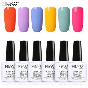 Elite99 Gel Polish 10ml Fluorescent Macaron Gel 6pcs / set Nagel-Kunst-Vernis UV-Lack tränken weg vom Nagellack-Lack
