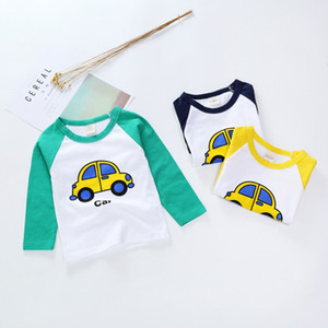New Spring Boys Girls T Shirts Children Tees Boy Girl Long Sleeve Shirts Cotton Kids Tops Baby Clothing 12M-8Y Casual
