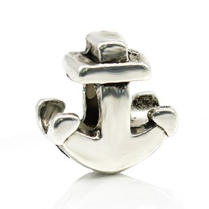 Anchor Alloy Charm Bead Big Hole Fashion Women Jewelry Estilo europeo para Pandora Pulsera Collar Nueva llegada
