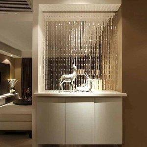 라인 문자열 크리스탈 유리 스트립 커튼 창 문 디바이더 쉬어 커튼 드리운 럭셔리 거실 침실 웨딩 홈 인테리어