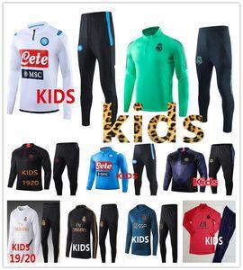 19 20 niños FC Barcelona Real Madrid Ajax psg jordan chándal de fútbol 2019 2020 Bayern Munich Dortmund traje de entrenamiento de fútbol chandal futbol