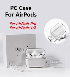 PC Crystal Clear Carcasas Para AirPods medio transparente auricular Para Caso AirPods Pro Carga de piel caja protectora dura cubierta para Airpods