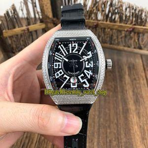 COLLEZIONE migliore versione UOMO Vanguard Classic V 45 SC DT quadrante nero Miyota 8215 Automatico Mens Watch Silvery Orologi cassa dell'orologio diamanti Designer