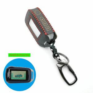 A94 Two Way LCD Remote Control Leather Fob Key Chain Case Cover for Russian Version Starline A94 2 Way Car Alarming System