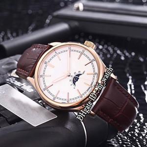 Nouveau Fiftysix 4600 Or Rose Cadran Argent Phase De Lune Phase A2813 Automatique Montre Homme Bracelet En Cuir Marron 4 Couleurs 40mm Montres Pour Hi_watch B153a1