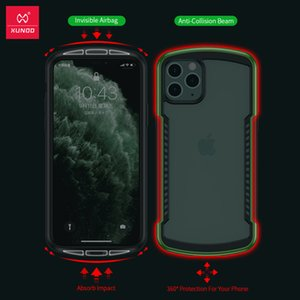luxury design Shockproof Case For iPhone 11 Pro Max Case Xundd Bumper Airbag Cover Transparent Protective Case Screen Protector Glass Green