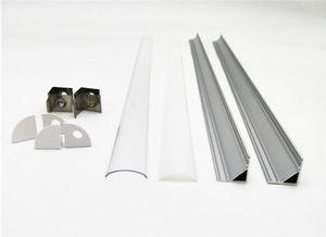 Livraison gratuite 2.5m / pc 100m / Lot angle aluminium conduit logement, profilé en aluminium pour lignt bande LED conduit de lumière de largeur 12mm bar