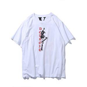 2020 Männer T-Shirt Europäische und amerikanische Mode Persönlichkeit großer V Buchstabedrucken Baumwoll-T-Shirt Jugend beiläufige kurze Hülse Euro SxL B1