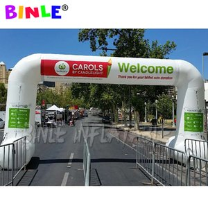 Custom color inflatable race arch with feet start finish line arch entrance arch balloon running gate gantry for event