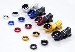 3 em 1 Universal Clipe Olho de Peixe Grande Angular Macro Telefone Fisheye câmara de vidro da lente para Samsung S7 preço barato + Melhor qualidade