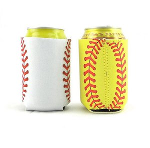 Neoprene baseball can cooler stubby cup holder Softball Beverage Can Sleeves Beer Cup Cover Case LJJA3820