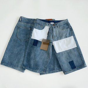 Summer thin jeans shorts loose straight tube 7-point middle pants, horse pants, 5-point pants, casual pants