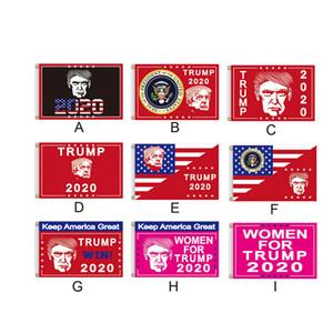 Trump Flag 90 * 150cm Donald Trump 2020 Keep Flags America Grande Polyester Election Bannière 9 couleurs Accessoires de mode LJJO7212