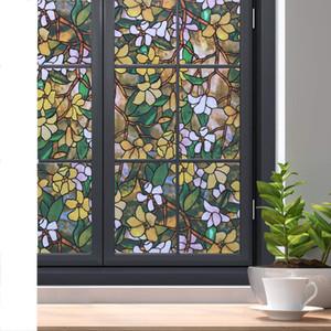 Конфиденциальность оконная пленка Stained самоклеющиеся пленка Съемная Static льнет Decor Glass Window Наклейки Anti-UV Window Blind