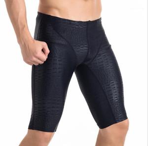 Sport 5XL Plus-Size Slim Badeshorts Männer der neuen Art-Strand Kleidung der Männer Krokodil-Muster-Schwarz Swimears knielangen Sommer Designer