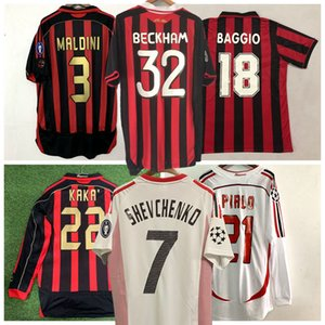 1991 1992 1996 1997 2002 camisa 2006 2007 09 10 Retro AC camisa de futebol BAGGIO KAKA MALDINI INZAGHI PIRLO milan VINTAGE futebol 2003 2005