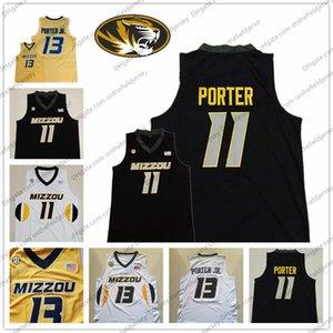 Пользовательские Mizzou Миссури Тигры Баскетбол Джерси любое имя Номер 13 Michael Porter Jr. 15 Geist 0 Торренс Уотсон 24 Kevin Puryear S-3XL