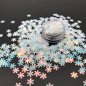 100g Holographische Laser Regenbogen Schneeflocke Shunk Chunky Glitter Flocken Maniküre Kunst Nagel Glänzende Pailletten Festival Weihnachtsdekor