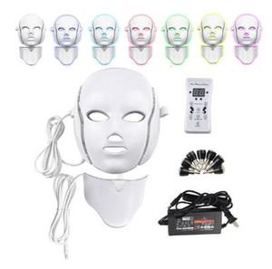 2 Типов 7 цветов Электрического Led маска для лица маски для лица машины Светотерапия маски горлышка красота Led Photon Therapy