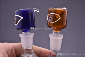 Thick Pyrex big eye Bowl with 14mm 18mm Male Green Blue Herb Tobacco Bong Bowls for Glass Water Pipes Bongs