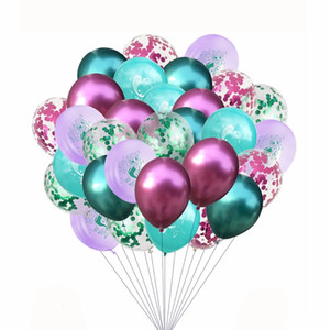 30pcs lot 12inch Fish Printed Latex Balloons Foil Confetti Balloons Happy Birthday Baby Shower Wedding Party Decorations for mermaid party