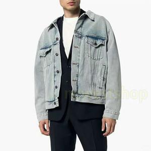 2020 Новая Европа осень назад Париж вышивка логотип печати стиральная старая куртка Мужчины Женщины с длинным рукавом джинсовые джинсы куртка старинные уличные пальто