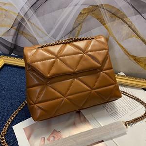 sacos de tronco de luxo de designer da senhora com uma cadeia de moda ombro cruzado e totes sacos genuínos correia de couro real sacos