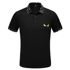 TT 2019 Italiano designer de Camisas Polo dos homens casuais polo t-shirt padrão de cobra flor bordado listrado moda clássico marca polo camisa