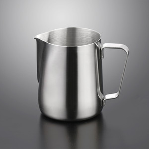 Stainless Steel Milk Frothing Jug 5 7 12 20oz Milk Cream Cup Coffee Creamer Latte Art Frothing Pitcher Cappuccino Pull Flower Cup DBC VT1503