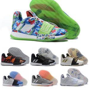 Newst Mens Harden Vol. 3 III MVP Basketbol Ayakkabı Dokuma Sneakers Erkek Kırmızı Gri Siyah Pembe James Harden 3s Eğitmenler Spor Ayakkabıları Boyut 7-11,5