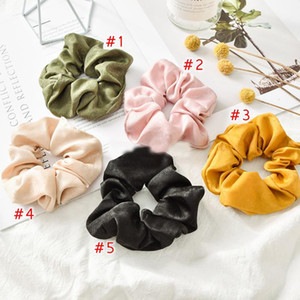 Fashion Solid Color Satin Hair Rope Ties For Girls Women Elastic Hair Bands Scrunchie Sweet Hair Accessories Ponytail Holder