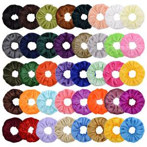 40 couleurs Porte-cheveux Ponytail Scrunchy élastique Pleuche Bandes cheveux Scrunchy Serre-têtes Cravates Cordes pour les filles de femmes