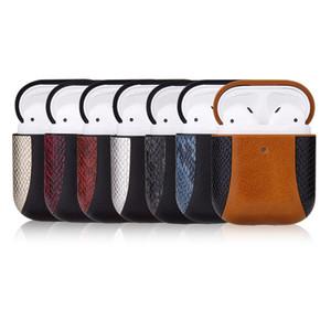 AirPod Housse de protection pour 1/2 Casque d'écoute Bluetooth antichocs cas pour AirPod Mode Serpent Motif patchwork Boîte de rangement 7 couleurs en gros