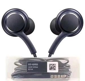 إلى Samsung S8 + S8plus سماعات الهاتف المحمول EO-IG9550 AKG Bass Headphones Samsung Galaxy S8 سماعات أذن مع مايكروفون التحكم في مستوى الصوت