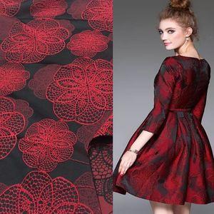 Elbise Şarap Yumuşak Damask Jakarlı Brocade Fabric, Diy Düğün Afrika Doku Coat Dikiş Patchwork Malzemeler Kumaş